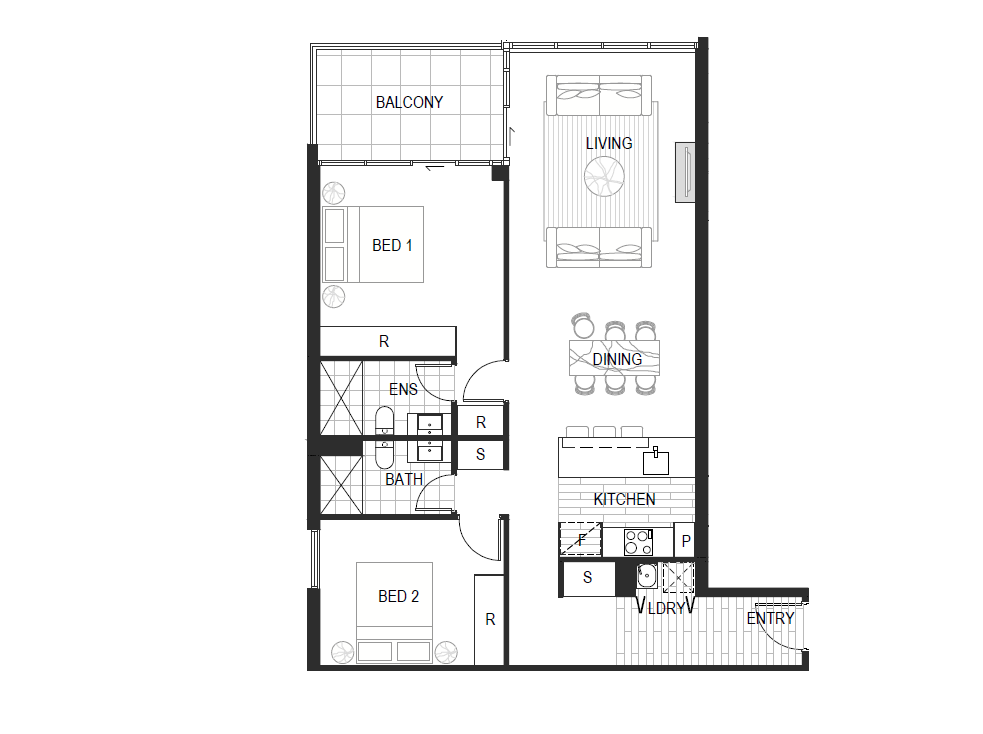Apartment Type 2E