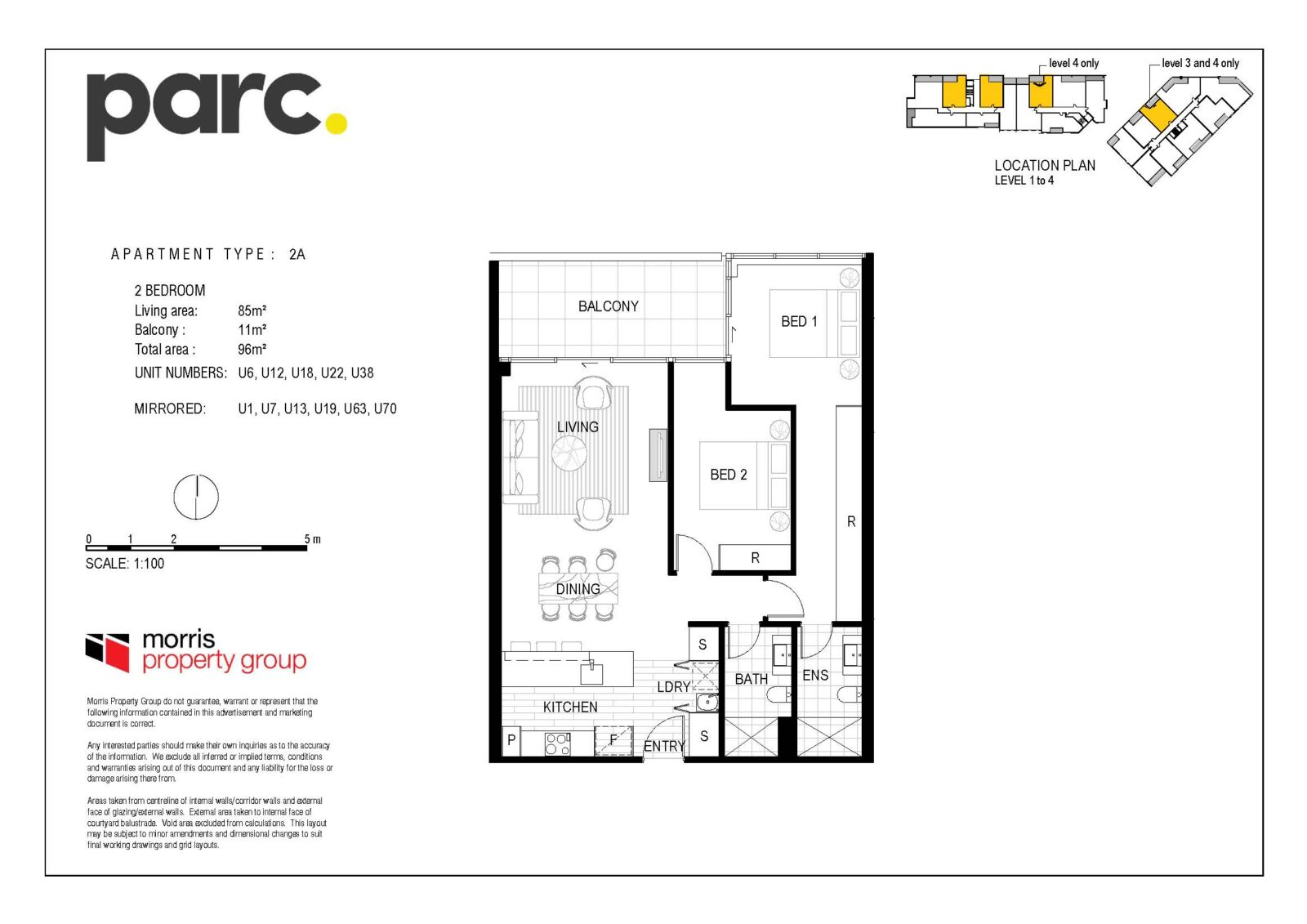 Apartment Type 2A from $569,900