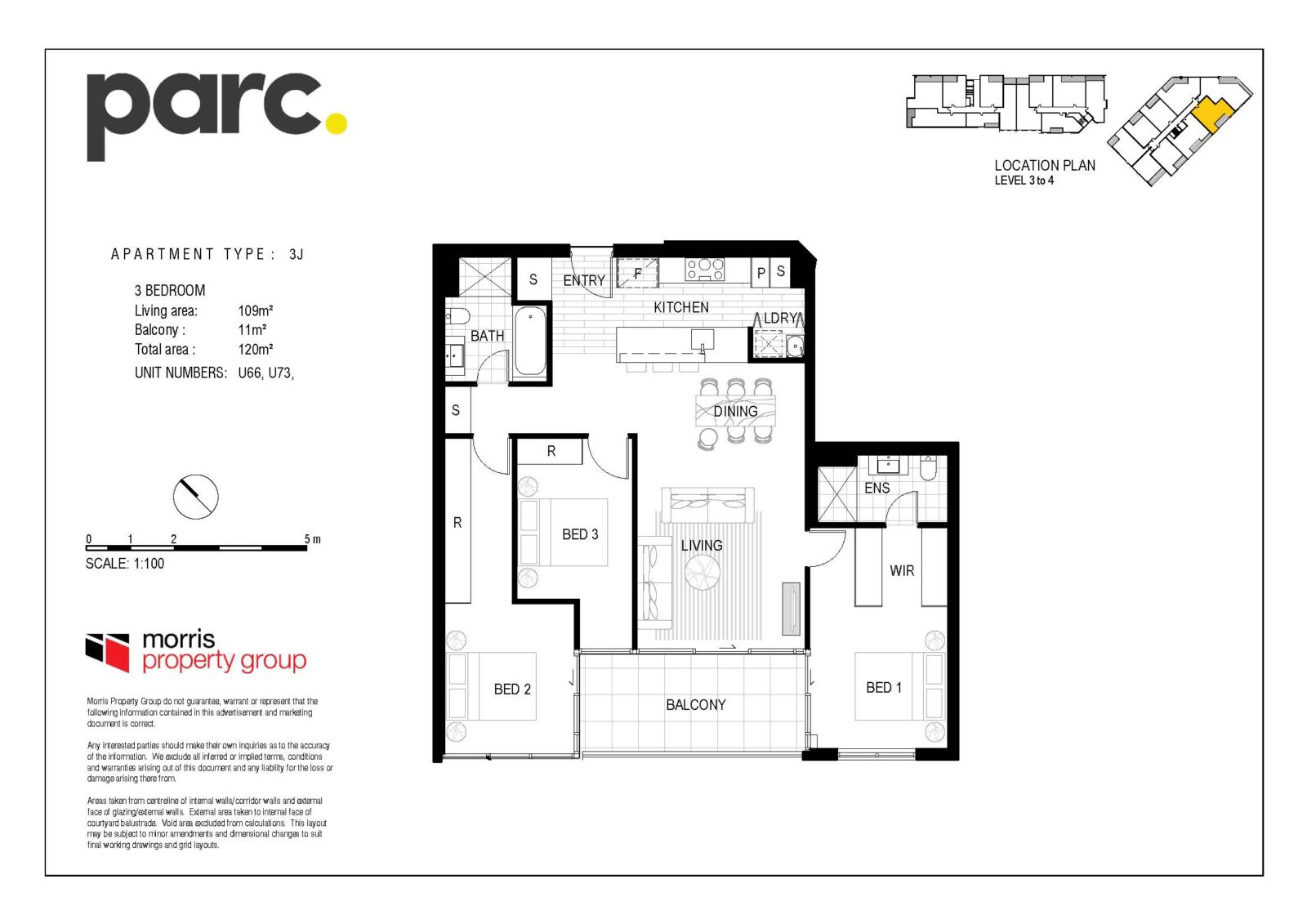 Apartment Type 3J from $619,900